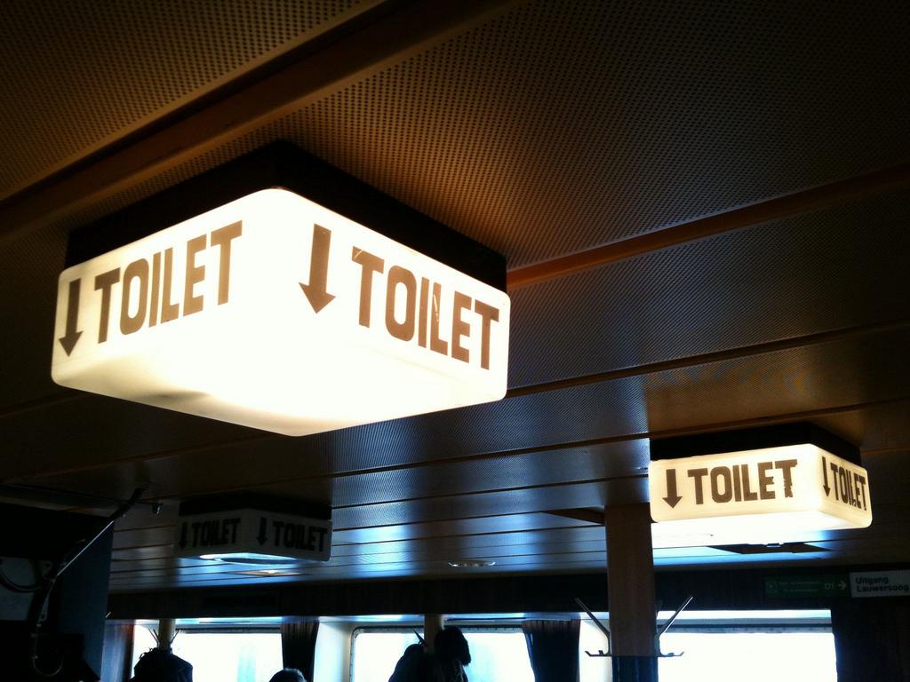 家探しでトイレの看板が妙に気になる